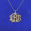 10k Gold Personalized Monogram Necklace