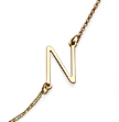 18k Yellow Gold Plated Sideways Initial Necklace