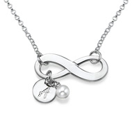 Sterling Silver Infinity Necklace with Initial