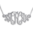 Vintage Monogram Style Name Necklace