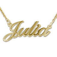 18k Gold-Plated Silver Classic Name Necklace