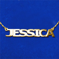 14k Gold All Capitals Name Necklace