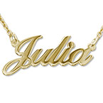 10K Gold Name  Necklace