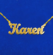 14k Gold Script Style Name Necklace