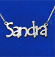 Double Thickness Tempus Style Silver Name Necklace