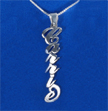 "Vertical Sterling Silver ""Carrie"" Style Name Necklace"
