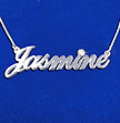 14k White Gold and Diamond Classic Name Necklace