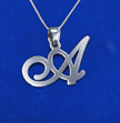 Sterling Silver Alphabet Initials Pendant with Your Choice of Letter