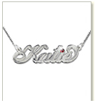 "Silver ""Carrie"" Style Swarovski Necklace"