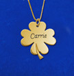 Personalized Shamrock Carrie Style Necklace in 18k Gold-Plated