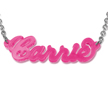 "Classic ""Carrie"" style name necklace in Acrylic"