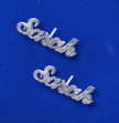 Sparkling Sterling Silver Personalized Name Stud Earring