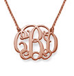 Celebrity Monogram Necklace in 18k Rose Gold Plating
