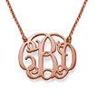 Celebrity Monogram Necklace in 18k Rose Gold Plating