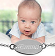 Sterling Silver Personalized Baby Name Bracelet