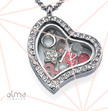 Personalized Heart Floating Locket