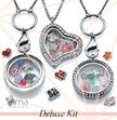 Deluxe Floating Lockets Kit: 30 lockets + 300 charms + FREE Display + FREE Jewelry Stand
