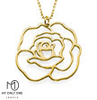 My Only One – 18K Gold Plated Sterling Silver Rose Necklace