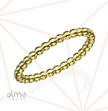 14k Yellow Gold Dotted Eternity Ring - Size M