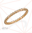 14k Rose Gold Dotted Eternity Ring - Size M