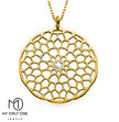 My Only One – Maze Mandala 18K Gold Plated Sterling Silver with Crystal Stone Necklace
