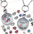 Starting Floating Lockets kit: 10 Lockets + 100 Charms + FREE Display